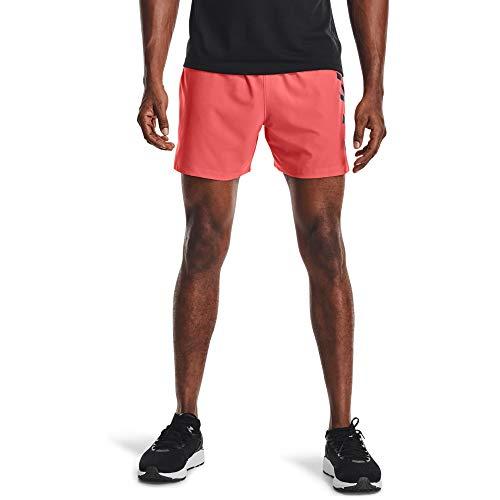 Under Armour Men's Speedpocket 5-Inch Shorts , Venom Red (690)/Reflective , XX-Large