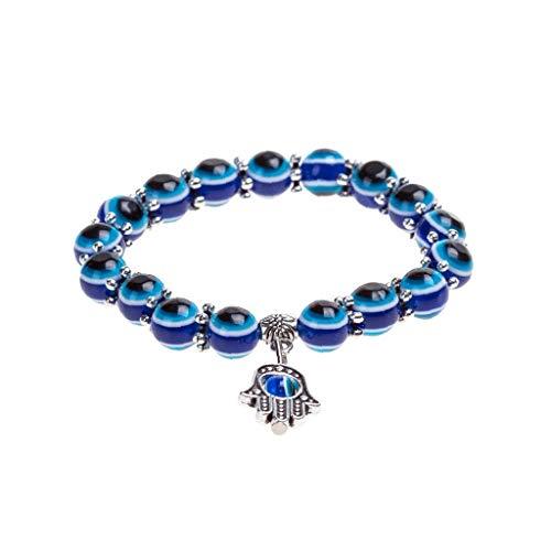 Fascino Braccialetto Occhi Azzurri Fashion Design di Cristallo Turco Occhio Fortunato per Gli Uomini E Unico Polso della Catena Elegante