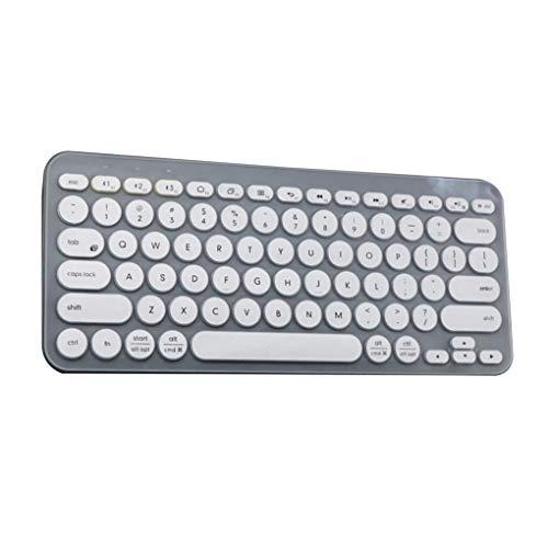 kexinda Tastatur-Abdeckung drahtlose Tastatur-weiches Silikon-wasserdichte Folie Ersatz für Logitech K380, Halb transparent halbtransparent