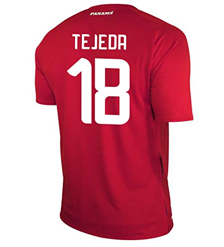 New Balance TEJEDA #18 Panama Home Soccer Men's Jersey FIFA World Cup Russia 2018 (M)