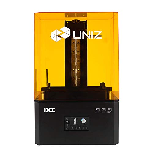 UNIZ IBEE LCD 3D Printer, UV SLA Resin 3D Printer with 8.9' 4K (3840x2400) Monochrome Screen and 4.3 inch Touch Screen, Larger Build Volume7.5'× 4.7'× 8.7' (192mm x 120mm x 220mm)