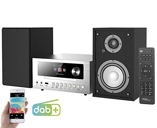 auvisio Internetradio: Micro-Stereoanlage mit Webradio, DAB+, FM, CD, Bluetooth, USB, 100 W (Micro Anlage)