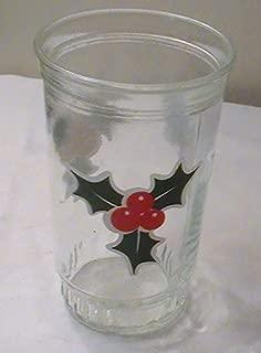 Vintage BAMA Jelly Jar Holly Glass