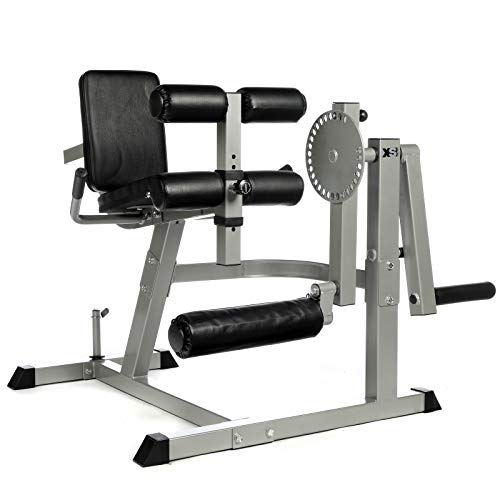 Pro Heavy Duty Seated Leg Curl & Extension Machine Quads Hamstrings Press by XS Sports