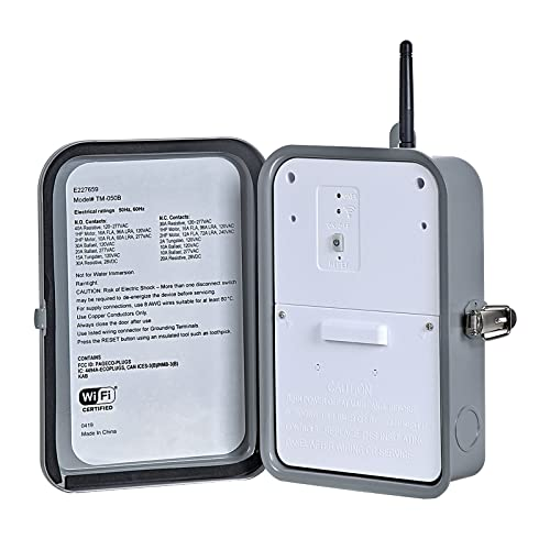 DEWENWILS Outdoor Smart Wi-Fi Outlet Box, Heavy Duty 40A 120-277 VAC 2HP Wireless Controller Timer Switch for Pool, Water Heater,...