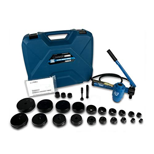 TEMCo TH0037 4 HYDRAULIC KNOCKOUT PUNCH Electrical Conduit Hole Cutter Set KO Tool Kit 5 Year Warranty