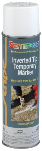 Seymour 20-633 Stripe Temporary Inverted Tip Marker, Whit