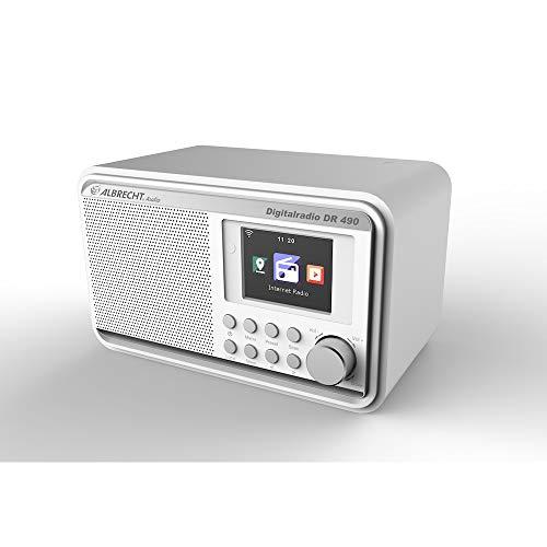 Albrecht DR490 Hybridradio mit Farbdisplay, 27491, DAB/Internet/UKW-Empfang, Radiosteuerung via Smartphone-App, Farbe: weiß