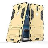 COOVY® Cover für Nokia 8 Sirocco Bumper Hülle, Doppelschicht aus Plastik + TPU-Silikon, extra stark, Anti-Shock, Standfunktion | Farbe Gold
