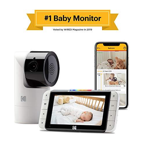 KODAK CHERISH C525 Monitor para Bebés WiFi con cámara y audio, App móvil, monitor de 5 pulgadas,…
