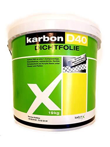 Karbon D40 1-component, oplosmiddelvrij waterdicht acyrlat vloeibare folie afdichtfolie binnen grijs 19 kg
