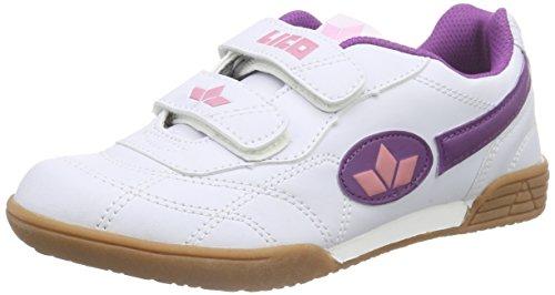 Lico Bernie V Multisport Indoor Schuhe Mädchen, Weiß/ Lila/ Rosa, 35 EU