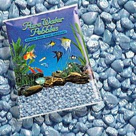 Reines Wasser Pebbles Pastell Blau Frost Aquarium Kies, 5-LB, Farbige Fisch Tank Kies