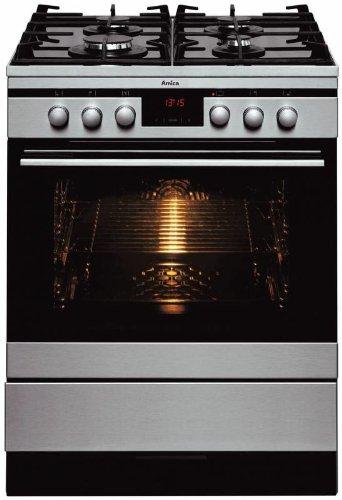 Amica SHEG 11177 E Gasherd / A / 0.95 kWh/Jahr / Rapid-Warm-Up / Steam Clean / edelstahl
