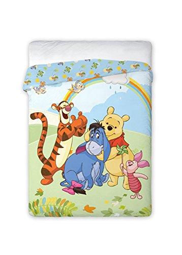 Winnie Pooh Tagesdecke Kinder Bettdecke 160x200 cm (Oeko Tex Standard 100) (p001)