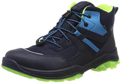 Superfit Jungen Jupiter Gore-Tex Hohe Sneaker, Blau (Blau/Gelb 80), 37 EU