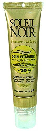 Sol negro Combi cuidado vitamina 20+ stick IP30Creme Solar