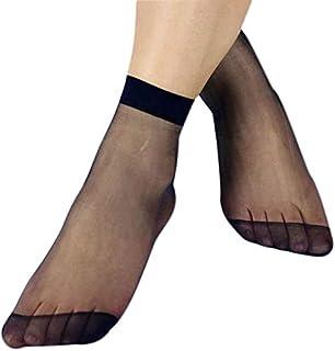 10 pares calcetines transparentes de verano de las señoras medias delgadas ultra-finas