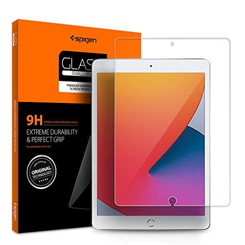 Spigen, Panzerglas Schutzfolie kompatibel mit iPad 8 10.2