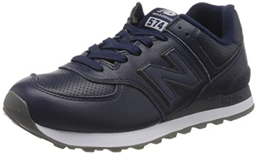 New Balance Herren 574v2 Sneaker, Blau (Navy/White Navy/White), 43 EU