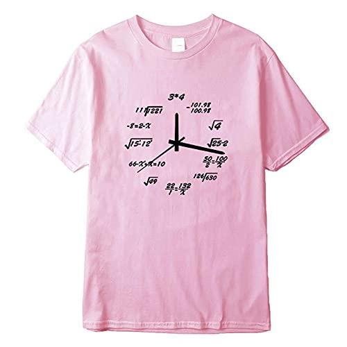 Astemdhj Camiseta de Manga Corta Camisa 3D 100% Algodón Casual Manga Corta Diseño Creativo Divertido Impresión Hombres Camiseta O-Cuello De Punto Tela Cómoda Calle L Ros