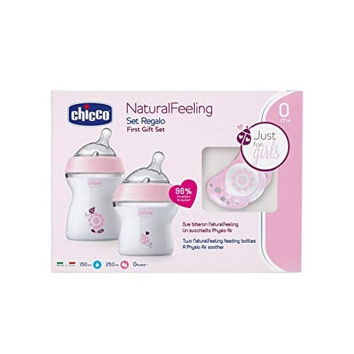 Chicco 00080711650000 Naturalfeeling Set Regalo, Bimba, Rosa
