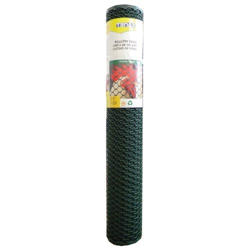 Tenax 3 ft. H x 25 ft. L 20 Ga. Green Poultry Fence