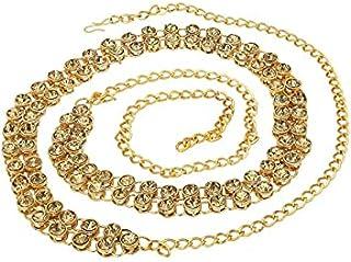 Nirwan Jewellery Stylish Gold Plated Stone Waistchain/Kamarband/Ottiyanam for Women and Girls Wear On Saree/lahnga/Jense a...