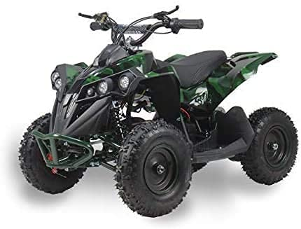 SYX MOTO Kids Mini ATV Bruiser 36V 800W Dirt Quad Electric Four-Wheeled Off-Road Vehicle, Green CAMO