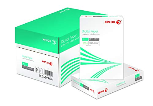 Xerox 003R98694 Digital Paper, Kopierpapier, Druckerpapier, Universalpapier DIN A4 2.500 Blatt Karton mit 5 Pack - 500 Blatt, weiß