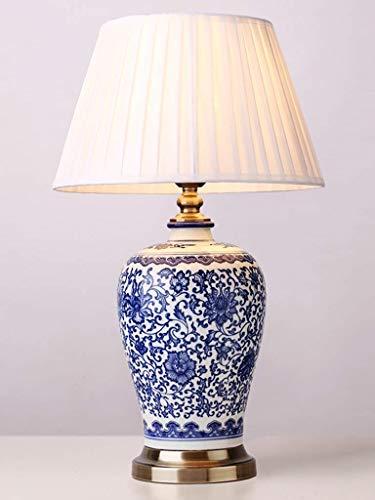 Gweat iluminación lo Bueno lámpara de Mesa Lámpara de cerámica Creativa de la lámpara de la habitación de la lámpara de la Cama de la Porcelana de la Porcelana Azul y Blanca