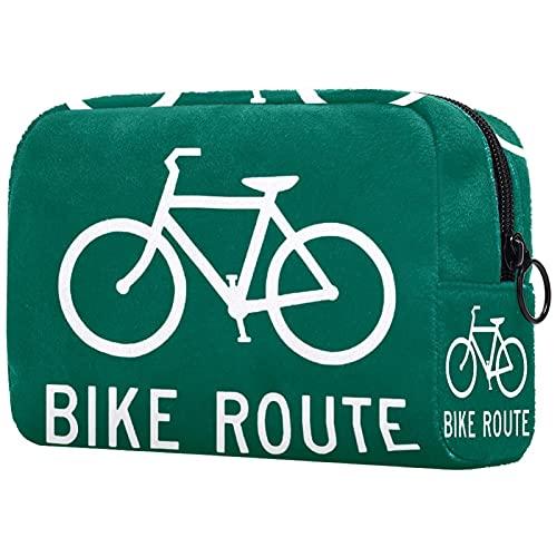 Maquillage Trousse De Toilette Cosmétique Voyage Kit Organisateur Cosmétique Pochette Porte-Monnaie,vélo itinéraire vélo