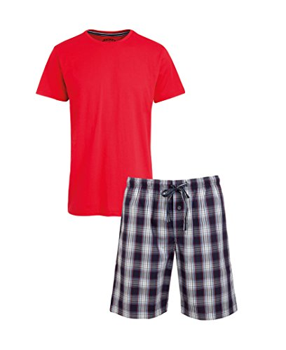 Jockey® Short Pyjama Mix, Rot, Größe S