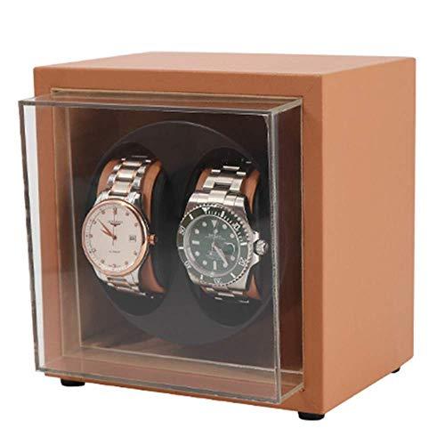 XUSHEN-HU Reloj del Cuadrado de la devanadera 2 Automatic Watch Winder Anti-Cronómetro automática de Doble Winder Dos Tiny Durable a Prueba de Polvo Silencio