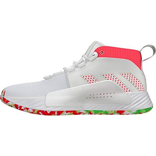Adidas Performance Dame 5 All Skate - Zapatillas de baloncesto para hombre, color blanco y rojo, talla 48 2/3 EU - 13 UK - 13.5 US