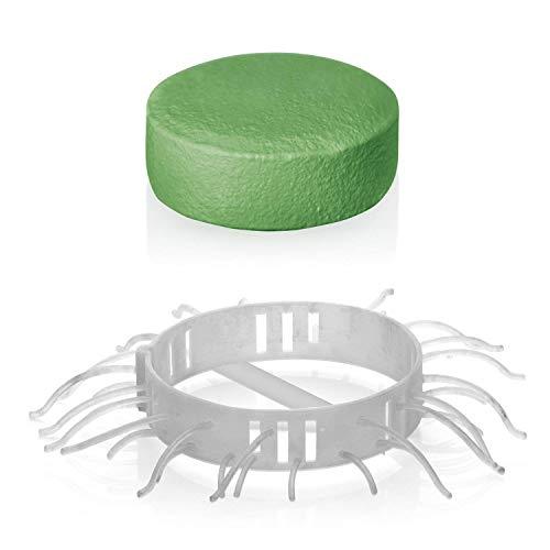 Abfluss-Fee Duftstein Set Dusche 8-TLG. 50g grün (Apfel-Zitrone 4X Duftstein 4X Haarfänger)