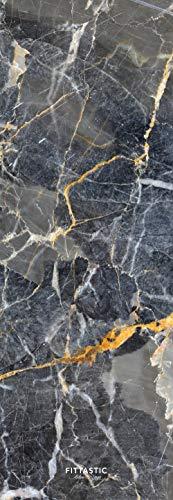 Fittastic All-in-One Yogamatte rutschfest – Marble Design Naturkautschuk – schadstofffrei – Studio Fitness-Matte – Gymnastik-Matte – 3,5 mm – 180 x 61 cm (Grey Marble)