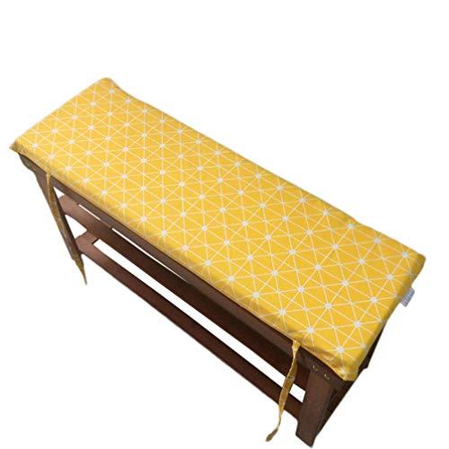 Cojín de suelo de tatami para jardín, banco largo, con lazos de fijación, cojines de banco para muebles de interior y exterior, E, 120x35x4cm