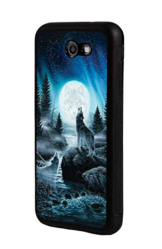 Galaxy J7 (2017)/J7 V/J7 Perx/J7 Sky Pro/J7 Prime Case,Slim Impact Resistant Shock-Absorption Rubber Protective Case Cover for Samsung Galaxy J7 (2017) - Roaring Wolf