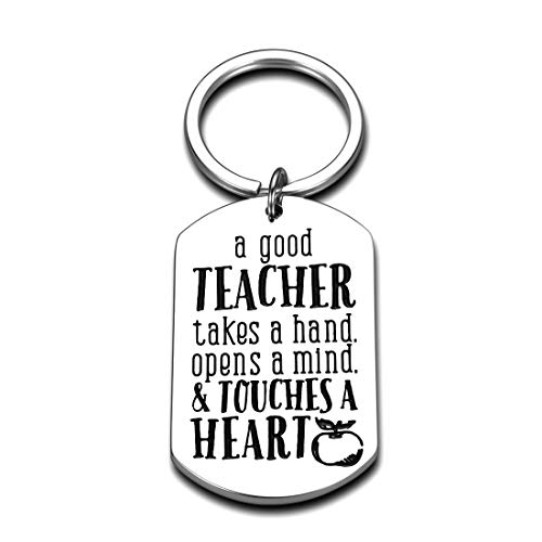 Teacher Gifts for Women Men Teacher Christmas Keychain Present Teacher Appreciation Thank You Gifts from Student Mom Dad End of Year Graduation Back to School Valentine's Day Retirement Jewelry