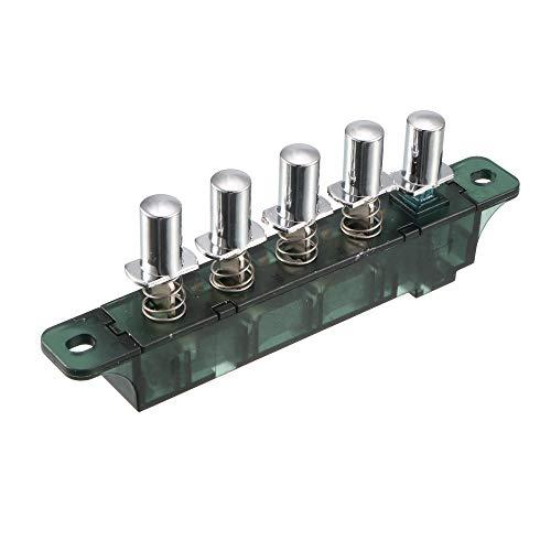 sourcingmap CA 250V 4A Interruptores de teclado tipo piano extractor de cocina de 5 Pulsadores