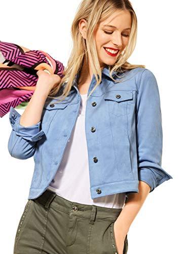 Street One 211321 Chaqueta de Cuero sinttico, Smog Blue, 40 para Mujer