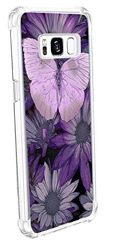 Alsoar Custodia Compatibile con Samsung Galaxy S8 Plus Cover Protettiva Shock-Absorption TPU Silicone Trasparente Ultra Elk Cuscino d'Aria Case (Butterfly, Samsung Galaxy S8 Plus)