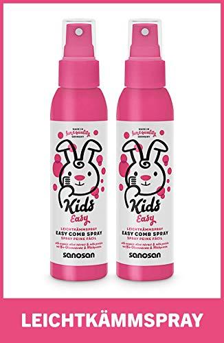 sanosan Leichtkämm Spray für Kinder - Leichtkämmspray mit Bio Olivenextrakt & Milchprotein im 2er Pack (2x 125 ml)