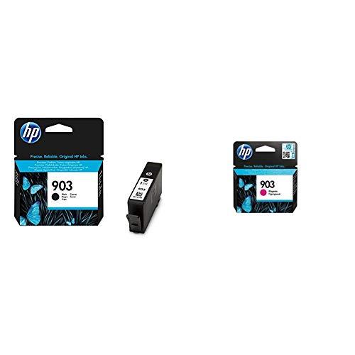 HP 903 T6L99AE, Negro, Cartucho de Tinta Original, Compatible con impresoras de inyección de Tinta OfficeJet 6950, 6951, OfficeJet Pro 6960, 6970 + T6L91AE - Cartucho de Tinta, Estándar