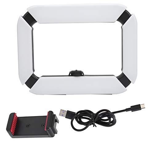 YUUGAA Luz de Relleno, luz de Relleno Ajustable de Mano U200 Luz de Video portátil con Abrazadera para teléfono