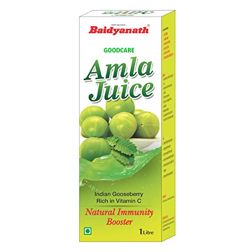 Baidyanath Amla Juice - Rich in Vitamin C and Natural Immunity Booster - 1L