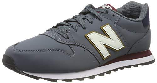 New Balance 500, Sneaker Uomo, Grigio (Grey/Red Grey/Red), 40 EU