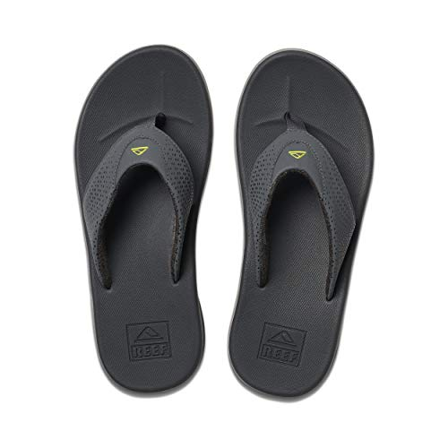 Reef Men's Sandals Rover | Water-Friendly Men's Sandal with Maximum Durability and Comfort | Waterproof, Grey/Lime, 11