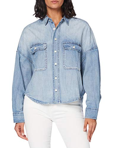 Replay Damen W2000 .000.26C 756 Bluse, 010 Light Blue, XXS